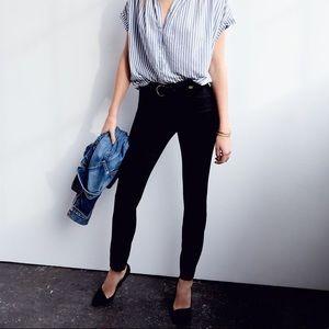 "Madewell • 9"" Black High Rise Skinny Jeans"